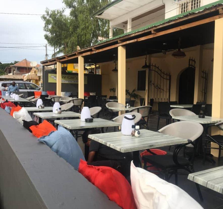 TeeGees restaurant Gambia senegambia kololi